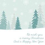 Carta del ` s del nuovo anno e di Natale Fotografie Stock