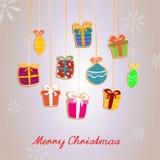 Carta del ` s del nuovo anno e di Natale Fotografia Stock Libera da Diritti