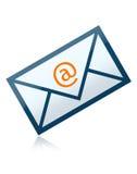 Carta del sobre del email Fotografía de archivo