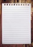 Carta del taccuino Fotografia Stock