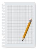Carta del taccuino con la matita Fotografia Stock Libera da Diritti