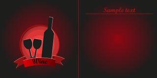 Carta del vino rosso Fotografia Stock Libera da Diritti