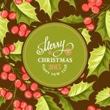 Carta del vischio di Natale Fotografie Stock Libere da Diritti