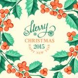 Carta del vischio di Natale Fotografia Stock