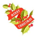 Carta del vischio di Natale Immagini Stock