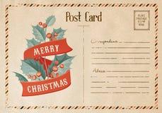 Carta del vischio di Natale Fotografia Stock Libera da Diritti