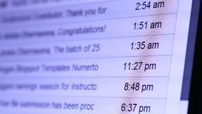 Carta del web de Internet almacen de metraje de vídeo