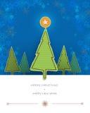 Carta dell'albero del progettazione-pino della carta di Buon Natale lacerata con spazio per testo Fotografie Stock Libere da Diritti