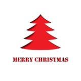 Carta dell'albero di Buon Natale tagliata Fotografia Stock Libera da Diritti