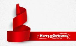 Carta dell'albero di Natale Fotografia Stock