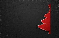 Carta dell'albero di Natale Fotografie Stock