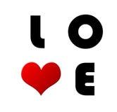 Carta dell'amore del biglietto di S. Valentino Fotografia Stock