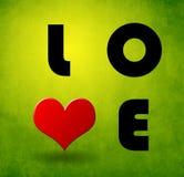 Carta dell'amore del biglietto di S. Valentino Fotografie Stock Libere da Diritti