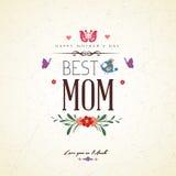 Carta dell'annata buona Festa della Mamma illustrazione di stock
