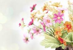 Carta dell'annata del fiore Immagine Stock