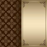 Carta dell'annata dell'oro e di marrone scuro Royalty Illustrazione gratis