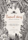 Carta dell'annata di vettore Illustrazione botanica illustrazione vettoriale