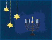 Carta dell'estratto del menorah di Chanukah Fotografia Stock
