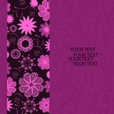 Carta dell'invito con il fiore, illustrazione Fotografia Stock Libera da Diritti