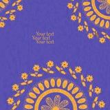 Carta dell'invito con il fiore, illustrazione Immagine Stock