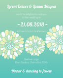 Carta dell'invito con il modello del fiore Fotografia Stock