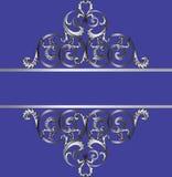 Carta dell'invito con l'ornamento reale d'argento classico Fotografie Stock Libere da Diritti