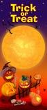 Carta dell'invito con le zucche di Halloween Immagini Stock