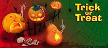 Carta dell'invito con le zucche di Halloween Fotografia Stock Libera da Diritti