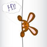 Carta dell'invito con un coniglio Fotografia Stock