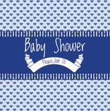 Carta dell'invito della doccia di bambino Immagini Stock Libere da Diritti