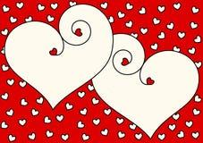 Carta dell'invito di giorno di biglietti di S. Valentino dei cuori Fotografia Stock Libera da Diritti