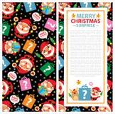 Carta dell'invito di Natale Immagini Stock