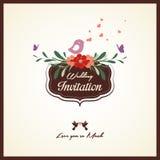 Carta dell'invito di nozze illustrazione vettoriale