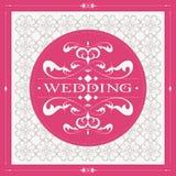 Carta 0069 dell'invito di nozze Fotografia Stock Libera da Diritti