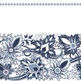 Carta dell'invito di nozze con l'ornamento etnico di Paisley del fiore illustrazione vettoriale
