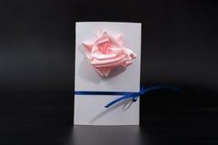 Carta dell'invito fatta a mano immagine tridimensionale per festa l'8 marzo Immagini Stock