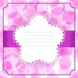 Carta dell'invito o di saluto Fotografie Stock