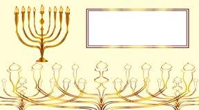 Carta dell'oro di Menorah Immagine Stock Libera da Diritti