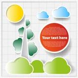 Carta della base tecnica con gli alberi astratti Fotografia Stock