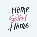 Carta della casa dolce casa Calligrafia moderna della spazzola Immagine Stock