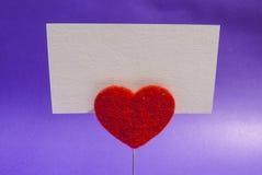Carta della clip del cuore Immagine Stock