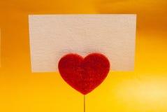 Carta della clip del cuore Fotografia Stock Libera da Diritti