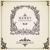 Carta della corona di Natale Fotografie Stock