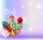 Carta della decorazione di Natale Immagini Stock