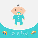 Carta della doccia del neonato Fotografia Stock Libera da Diritti