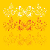 Carta della farfalla Immagine Stock