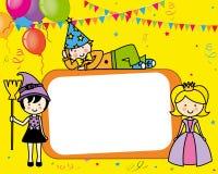 Carta della festa in costume Immagini Stock