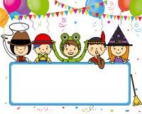 Carta della festa in costume illustrazione di stock