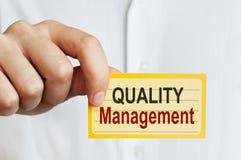 Carta della gestione della qualità Fotografia Stock Libera da Diritti