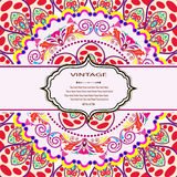 Carta della mandala dell'invito Illustrazione Vettoriale